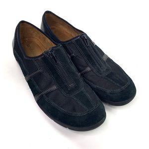 Naturalizer Acorn Black Suede Slip On Loafer 10